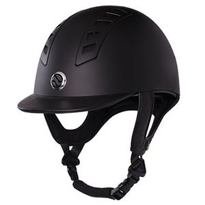 Back On Track EQ3 Riding Helmet - Matte Black Smooth Shell