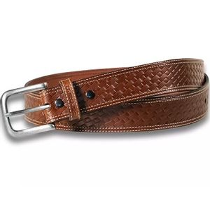 Carhartt Men's Basketweave Leather Belt - Brown