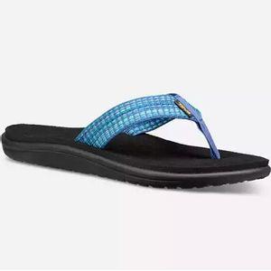 Teva Women's Voya Flip Flops- Bar Street Blue