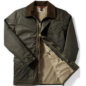 Filson Men's Cover Cloth Mile Marker Coat - Otter Green