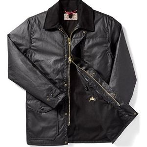 Filson Men's Cover Cloth Mile Marker Coat - Black