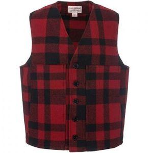 Filson Men's Mackinaw Wool Vest - Redblack