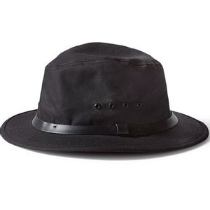 Filson Unisex Tin Cloth Packer Hat - Black