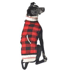 Chilly Dog Classics Buffalo Plaid Sweater