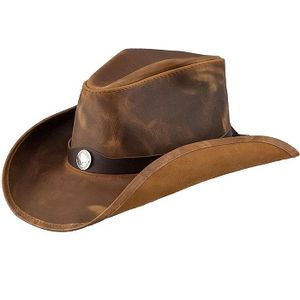 Head'n Home Western Leather Cowboy Hat - Copper