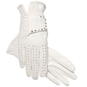 SSG Grand Prix Riding Glove with Bling - White