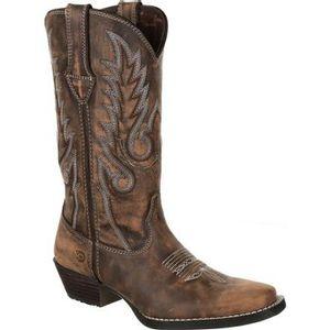 Durango Women's Dream Catcher Western Boot - Distressed Brown and Tan