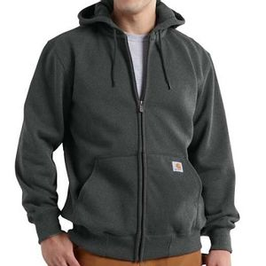 Carhartt Men's Rain Defender Paxton Heavyweight Hooded Zip Sweatshirt - Carbon Heather
