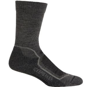 Icebreaker Men's Hike+ Medium Crew Socks - Twisted Heather/Silver