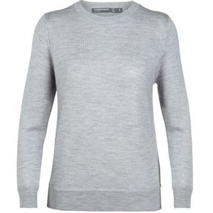 Icebreaker Women's Muster Crewe Sweater - Steel Heather