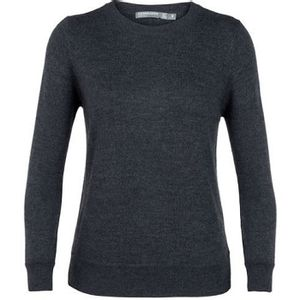 Icebreaker Women's Muster Crewe Sweater - Char Heather