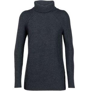 Icebreaker Women's Waypoint Roll Neck Sweater - Char Heather