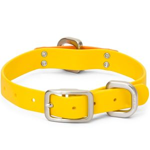 West Paw Jaunts Waterproof Dog Collar - Goldenrod/Tangerine