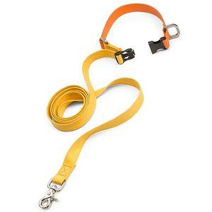 West Paw Jaunts Comfort Grip Dog Leash - Goldenrod/Tangerine