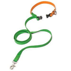 West Paw Jaunts Comfort Grip Dog Leash - Greenery/Tangerine