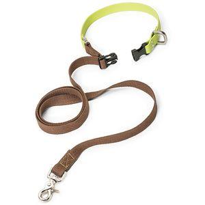 West Paw Jaunts Comfort Grip Dog Leash - Mocha/Granny Smith