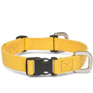West Paw Strolls Dog Collar with Hemp - Goldenrod