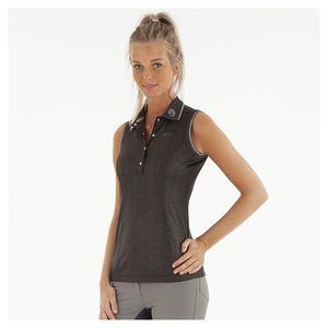 ANKY Sleeveless Polo Shirt - Charcoal Grey