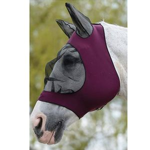 Weatherbeeta Stretch Eye Saver Mask w/Ears - Purple/Black