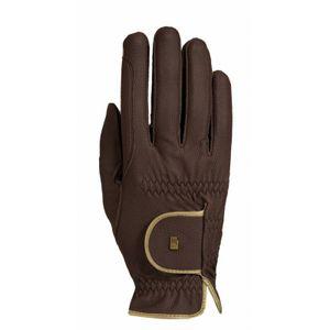 Roeckl Lona Riding Glove - Mocha/Gold