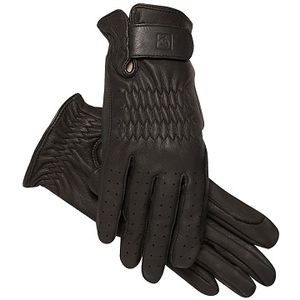 SSG Pro Show Deerskin Riding Gloves - Black