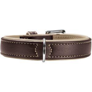 Hunter Germany Canadian Elk Leather Dog Collar - Brown/Beige