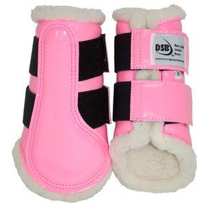 DSB Dressage Sport Boots - Patent - Pink/White