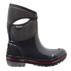 Bogs Women's Plimsoll Prince of Wales Mid Boots - Black