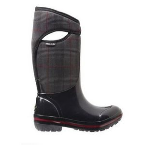 Bogs Women's Plimsoll Prince of Wales High Boots - Black