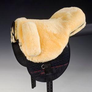 HorseDream Lammfelle Premium Plus Bareback Pad - Natural/Black/Natural