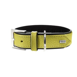 Hunter Germany Capri Nappa Leather Dog Collar - Lime