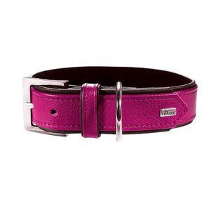 Hunter Germany Capri Nappa Leather Dog Collar - Raspberry