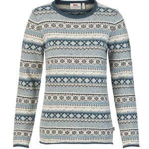 Fjallraven Women's Ovik Folk Knit Sweater - Frost Green