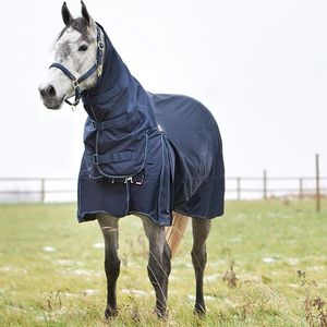 Horze Avalanche Pro 150g Combo Neck Turnout Blanket - Peacoat Dark Blue