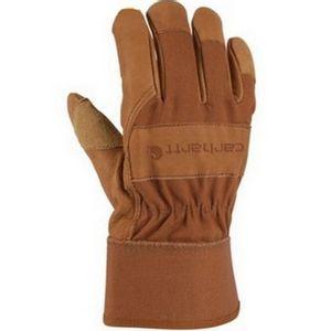 Carhartt Men's Grain Leather Work Gloves - Brown