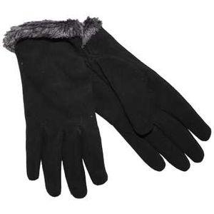 Auclair Women's Deersuede Gloves - Silver/Black