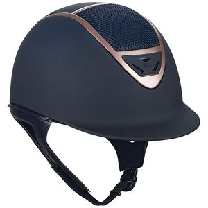 IRH IR4G XLT Riding Helmet - Matte Black w/Rose Gold Vent
