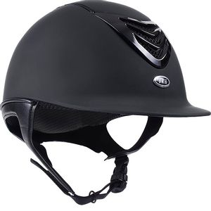 IRH IR4G Riding Helmet - Matte Black w/Gloss Vent