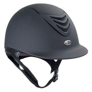 IRH IR4G Riding Helmet - Matte Black w/Matte Vent