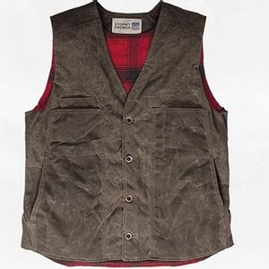 Stormy Kromer Men's Waxed Button Vest - Dark Oak
