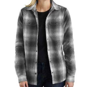 Carhartt Women's Hubbard Sherpa Lined Shirt Jacket - Gravel
