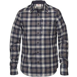 Fjallraven Men's Fjallglim Long Sleeve Check Shirt - Night Sky