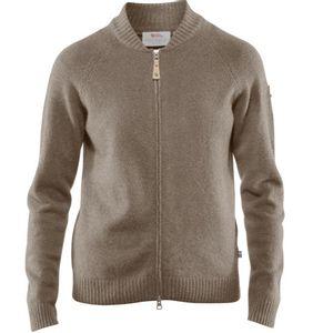Fjallraven Women's Ovik Re-Wool Zip Jacket - Driftwood