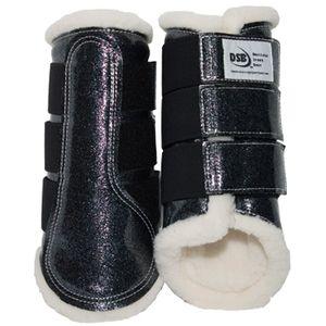DSB Dressage Sport Boots - Patent - Glitter Grey/White