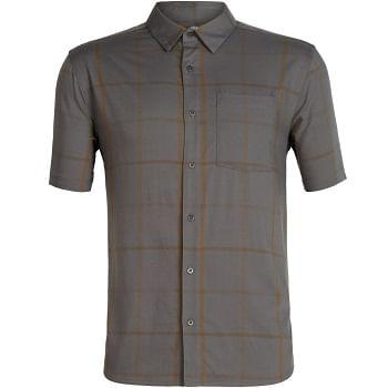 Icebreaker-Men-s-Compass-Short-Sleeve-Shirt---Timberwolf-Tobacco-Plaid-230258