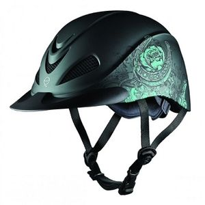 Troxel Rebel Riding Helmet - Turquoise Rose