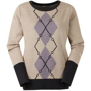 Kerrits Ladies Double Diamond Sweater - Driftwood
