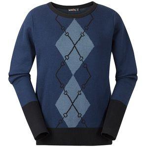 Kerrits Ladies Double Diamond Sweater - Navy