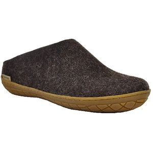 Glerups Unisex Slippers with Rubber Sole - Charcoal Black
