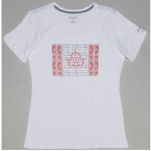 Columbia Women's Show Your Flag Tee - White, Canada Flag